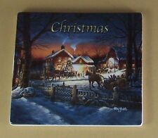 Terry Redlin's Seasons in Time Clock Collection Plate Christmas #5 Mib Coa Tile