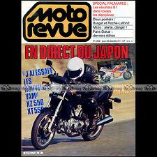 MOTO REVUE N°2538 YAMAHA ZX 550 XT 550 PARIS-DAKAR HONDA NS 500 FWS 1000 V4 1981