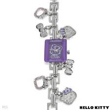 HELLO KITTY Brand New Watch With Genuine Purple Crystal Charms