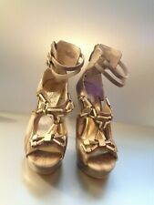 Babyphat Letisha Women's Brown And Beige Sandal Stilettos Size 6 1/2M
