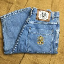 ICE Collection Womens  Denim Jeans Gold Rivets Mid Blue Sizes 12