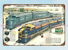 New Listingman cave wall plaques railway locomotive 1957 Lional train metal tin sign