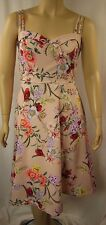 NEW City Chic Nude Floral Strappy Day Time Diva Dress Plus Size XS 14 CC874