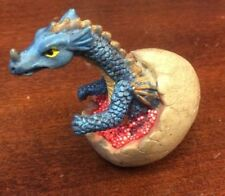 "Blue Dragon Hatchling 2 1/2"" Tall Preowned Fantasy Figurine Dragons Ceramic"