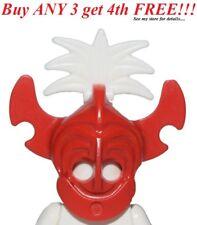 ☀️NEW Lego Boy/Girl Minifig Hat Red King Kahuka Tribal Helmet