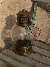 lanterne nautique marine bateau bronze coursive XIXe 19th nautic lantern lamp