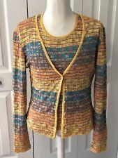Pre-owned Missoni Women's Cardigan Twin Set Size 44 US 8 2 Piece Multicolor EUC