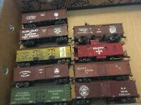 Chose from a collection of VINTAGE HO scale freight 36 foot cars craftsman made