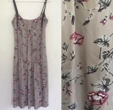 🌟 VERONIKA MAINE Women's Champaign Pink Beige Floral Green Grey Dress Sz 10 S 8