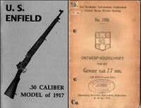 SMLE WW1 WWI 1917 Lee Enfield Rifle .30 Caliber Blueprints  Manuals Machine i,,