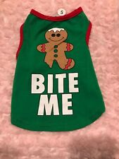 Small Bite Me Christmas Dog Shirt