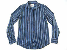 VINTAGE RED STRIPED BLUE SMALL BUTTON DOWN SHIRT MENS NWT NEW