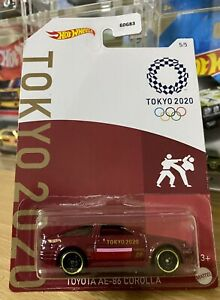 New 2021 Hot Wheels TOKYO OLYMPICS 2020 TOYOTA COROLLA AE86 RED