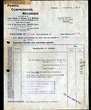 "VANVES (92) USINE METALLURGIE ""POMPES , COMPRESSEURS , MECANIQUE"" en 1949"