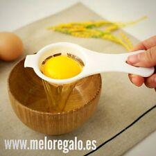 Separador de yemas de huevo,más higiene. plástico blanco. Envío a toda España