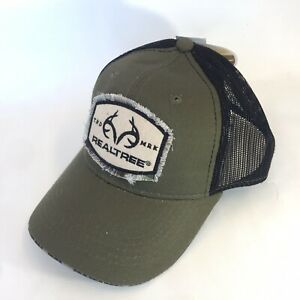 Realtree Cap Hat Snapback Meshback Green Camo Outdoor Hunting Bill Jordan