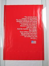 """1970 """"Adolph Hitler"""" Quote Vintage War Poster by Atomic Energy Group 19X26"""