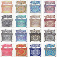 Indian Mandala Duvet Doona Cover Set Cotton Bohemian Quilt Cover Kids Bedding