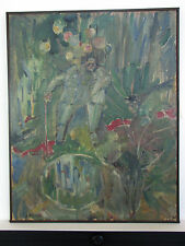 SEYMOUR ROSOFSKY ORIGINAL SIGNED OIL PAINTING ON BOARD - BALLOON MAN