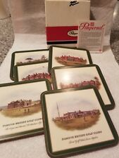 Pimpernel Coasters Traditional Famous English Gold Clubs Set of 6