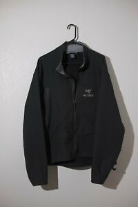 Arc'teryx soft shell jacket mens size xl black polartec fleece lined