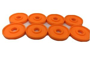 Tinker Toy 8 Orange Discs Washers Circles Replacement Pieces