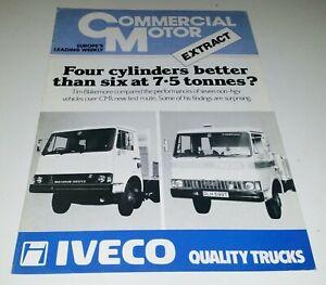 Iveco Fiat Magirus Deutz Commercial Motor Extract UK Sales Leaflet circa 1979