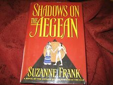 Shadows on the Aegean by Suzanne Frank (1998, Hardcover) 1ST PRT SIGNED