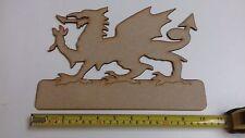 Laser Cut Wooden Welsh Dragon Door Plaque Wales 27cms x 19cms 3mm MDF