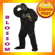 Gorilla Big Ape Deluxe Mascot Dress up Men Costume One Size