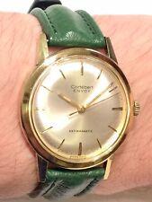 Fantastic 34.5mm Vintage Swiss Cortebert Envoy Gold Plated Mens Dress Watch