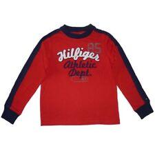 Tommy Hilfiger Kinder Jungen langarm Shirt rot dunkelblau Logo T-Shirt 128-140