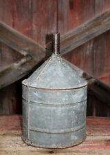 Lg Vintage Galvanized Metal Funnel Primitive Industrial Light Lamp Shade Antique