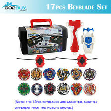 17Pcs Assorted Beyblade BURST Launcher Battling Box Set Spinning Tops Blade Kit