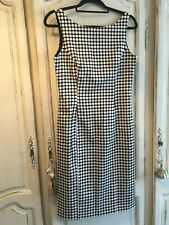 LAURA ASHLEY - Stunning Polka Dot Black & White Dress - UK 10