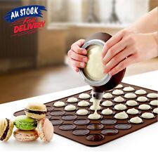 48 Baking Silicone Macaroon Tray Non Stick Mould  Cavities Macaron Sheet Mat