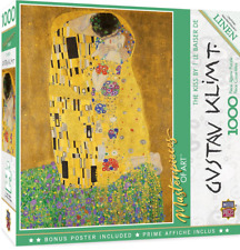 MasterPieces 72014 Linen Jigsaw Puzzles Deluxe 1000 PC Puzzle - The Kiss