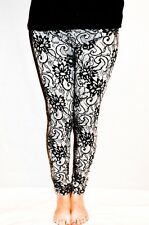 Lace effect printed leggings