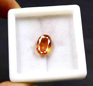 6.15Carat Certified Transparent Oval Cut Orange Sapphire Natural Gemstone PG1740