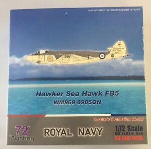 AVIATION 72 HAWKER SEA HAWK FB5 WM969 898 SQN 1:72 DIECAST FLEET AIR ARM NEW