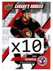 2021 UD NATIONAL HOCKEY CARD DAY JOSH NORRIS CAN-3 CANADA'S ROOKIES LOT (10)