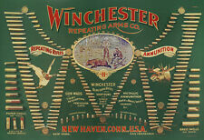 WINCHESTER REPEATING ARMS AMMUNITION ADVERTISING POSTER