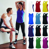 AWDis Just Cool Girlie Cool Contrast Vest - Women team/training/sports/gym tank