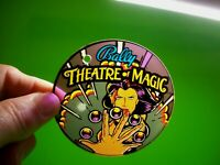 Theatre Of Magic Pinball Plastic Keychain Bally Original Promo Magician Women