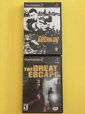 PS2 Lot: Getaway & Great Escape Tested Discs Ships Fast!