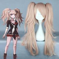 Danganronpa Dangan-Ronpa Junko Enoshima Fashion hair Wavy Ponytails Cosplay Wig