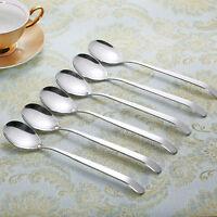 6pcs 9''  Korean Long Handle Dinner spoon Stainless Steel  Soup Coffee spoon set
