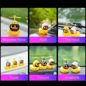 car dash board toy duck, Duck with Helmet Broken Wind Small Yellow Duck