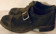 VERY VOLATILE BUCKLE GREEN SUEDE LEATHER SLIP ON WOMEN'S OXFORDS SZ 7.5 M