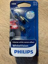 2x H6W WhiteVision PHILIPS 12036WHVB2 6W 12V BAX9s white vision XENON 12036